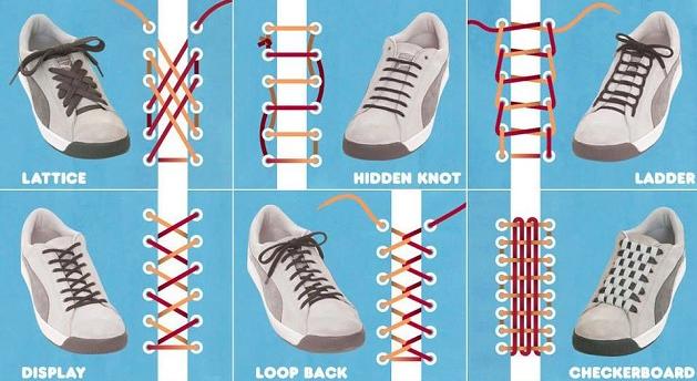 Teknik memasang tali sepatu