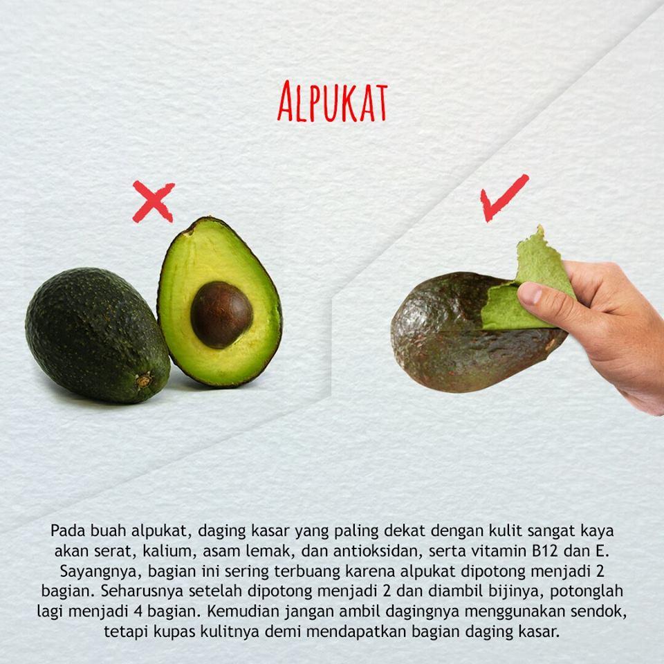 cara benar makan buah alpukat