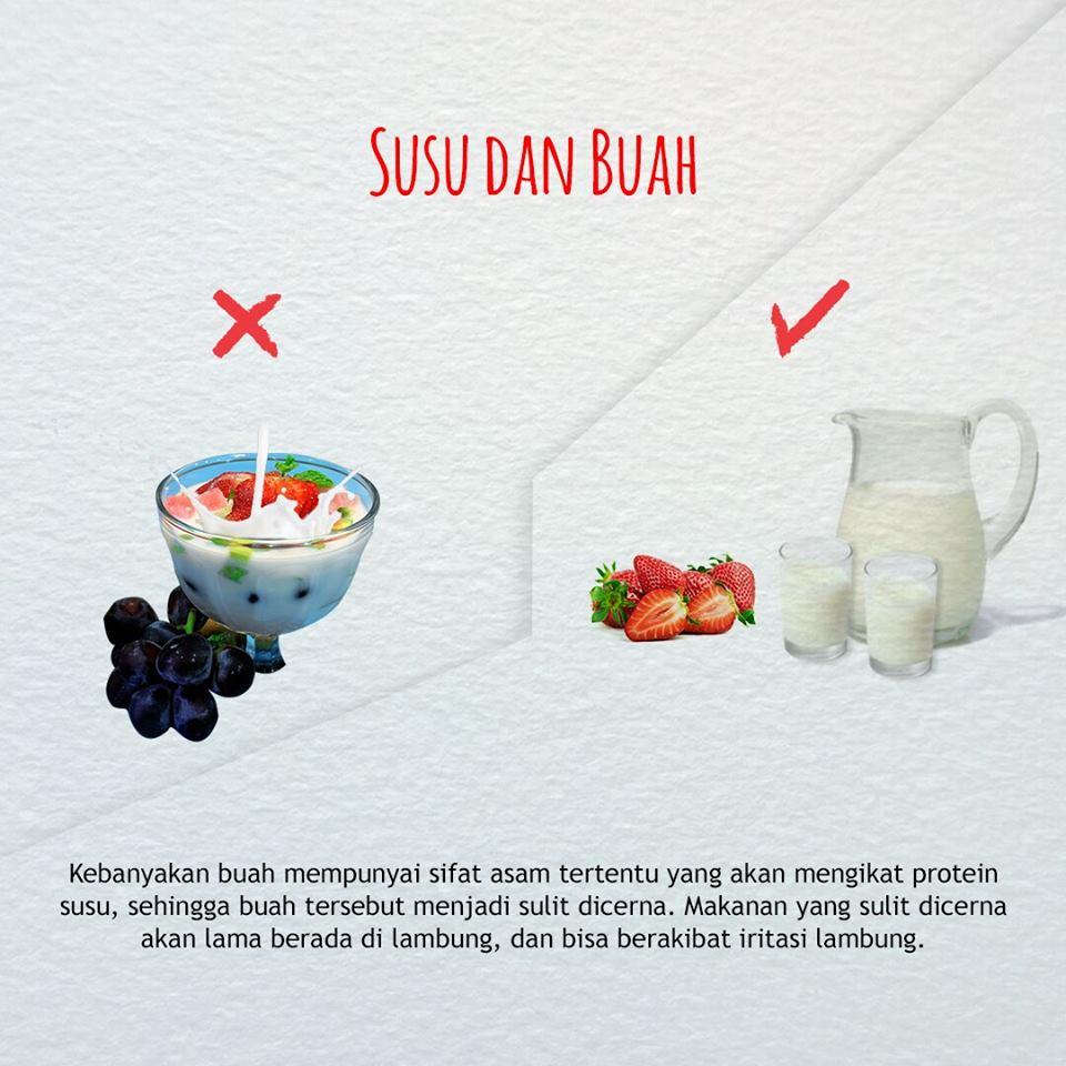 cara benar mengolah susu dan buah