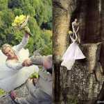 foto-prewedding-tergantung-di-tebing